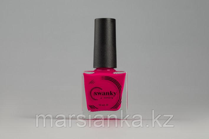 Лак для стемпинга Swanky Stamping №022, неоновая маджента, 10 мл., фото 2