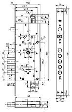 Замок врезной Kale Kilit 476 LR, сувальдный, 5 ключей, фото 3