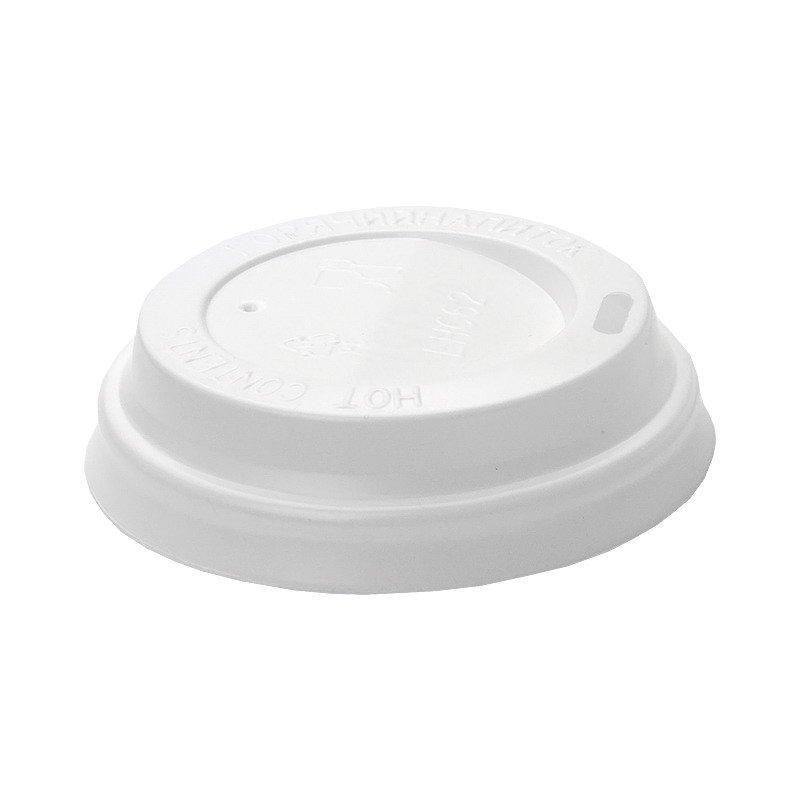 Крышка для стаканов, для холодного/горячего, диаметр 80 мм, белая, 100 шт