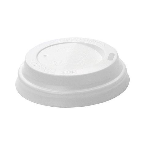 Крышка для стаканов, для холодного/горячего, диаметр 80 мм, белая, 100 шт, фото 2