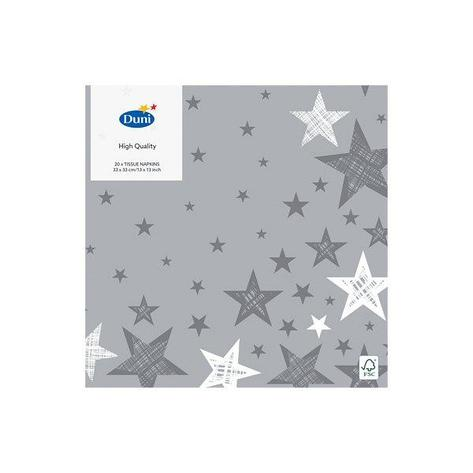 "Салфетки 33х33см, 3 сл., ""SHINING STAR GREY"", Бумага, 20 шт, фото 2"