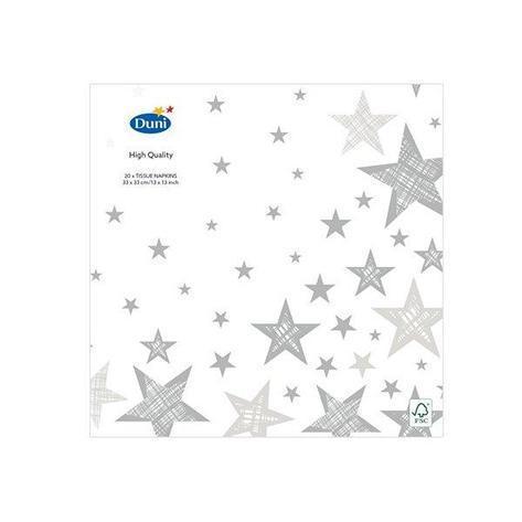 "Салфетки 33х33см, 3 сл., ""SHINING STAR WHITE"", Бумага, 20 шт, фото 2"