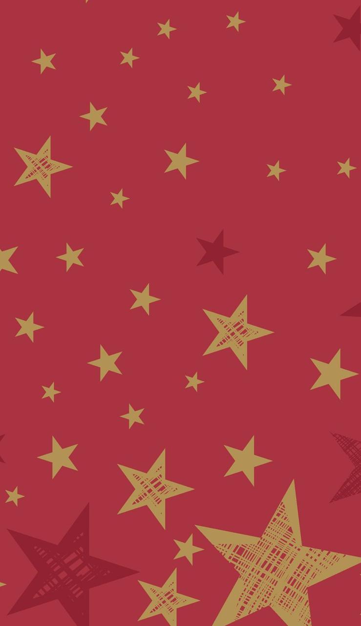 """Скатерть 138х220см, DUNICEL, """"Сияющая звезда на красном"""", Бумага"""