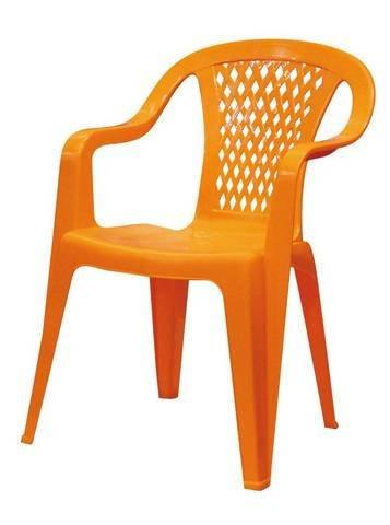 """Кресло """"Гамма"""", 46х46х80см, желтое, ПП"""