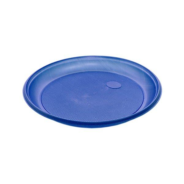 Тарелка d 205мм, син., ПС, 12 шт