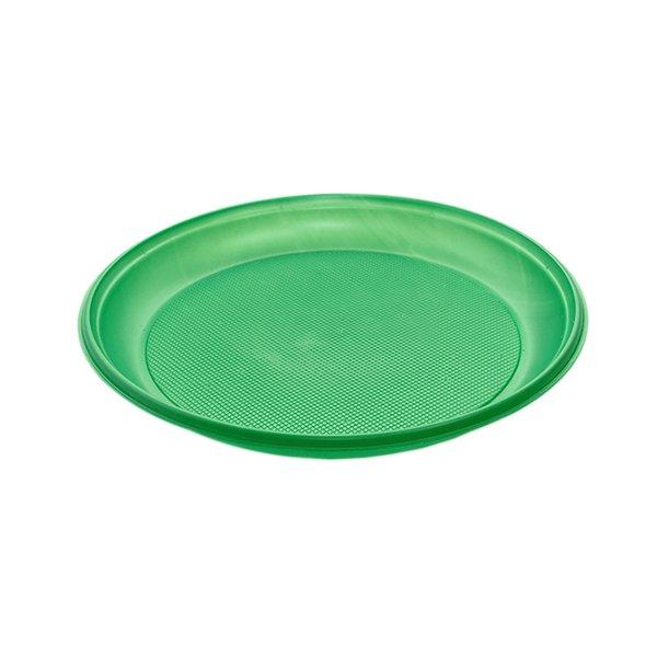 Тарелка d 210мм, зелён., ПС, 12 шт