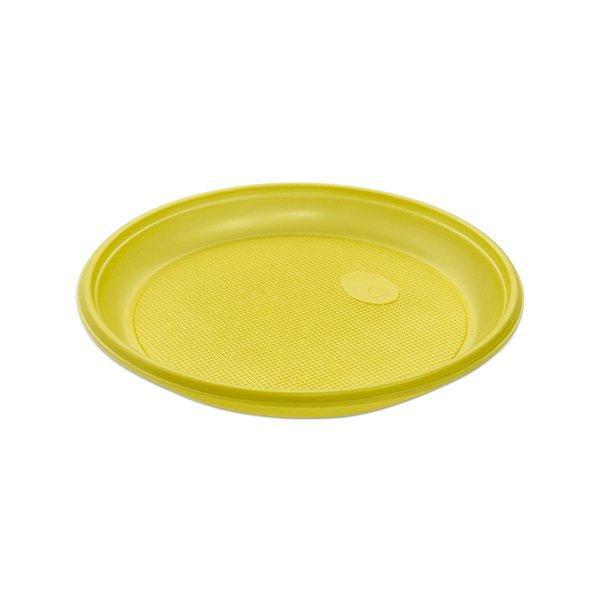Тарелка d 205мм, жёлт., ПС, 12 шт