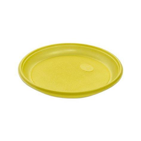 Тарелка d 205мм, жёлт., ПС, 12 шт, фото 2