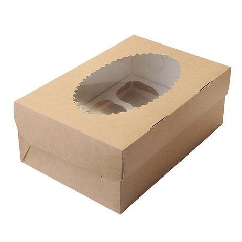 """Коробка """"DoEco"""" 250х100х100мм ECO MUF 3, с окном, коричн/белый , 150 шт, фото 2"""