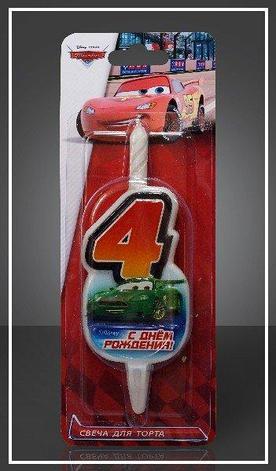 "Свеча д/торта ""Disney Тачки"" цифра ""4"", фото 2"