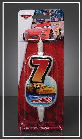 "Свеча д/торта ""Disney Тачки"" цифра ""7"", фото 2"