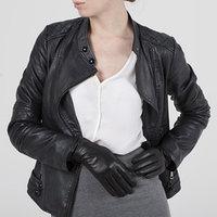 Перчатки женские, размер 6,5, длина 25 см, с подкладом, цвет чёрный