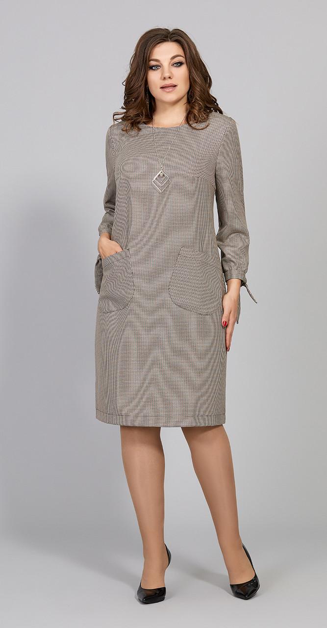 Платье Olga Style-С577, мелкая клетка, 48