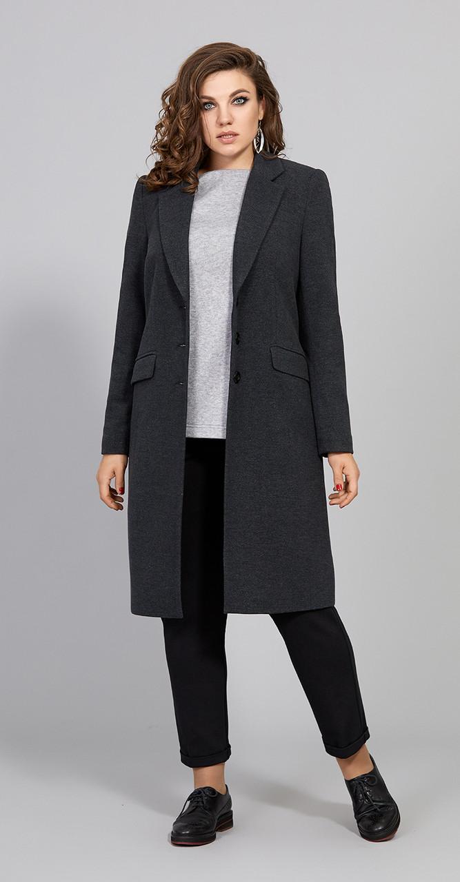 Пальто Olga Style-Т425 , графит, 46