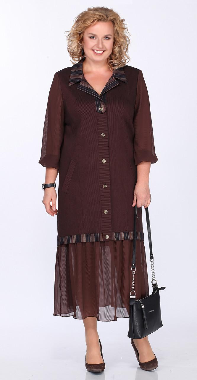 Платье Lady Secret-3605/1, коричневый, 54