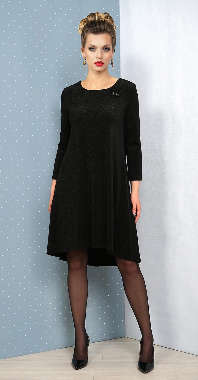 Платье Alani-1070, черный с мерцанием, 44