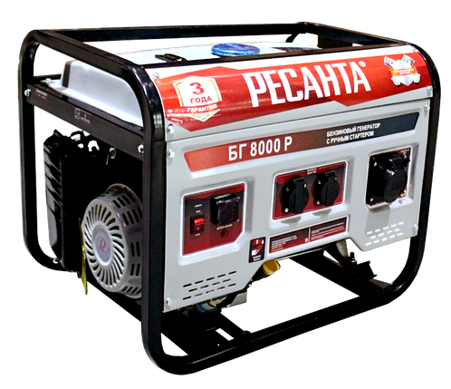 Электрогенератор БГ 8000 Р Ресанта, фото 2