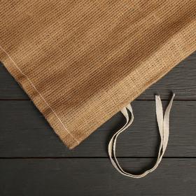 Мешок джутовый, 45 x 65 см, плотность 420 г/м , с завязками - фото 2