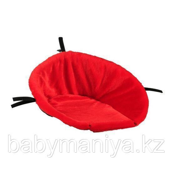 Матрасик меховой для санок Baby Dream СТАНДАРТ Красный искусствен мех