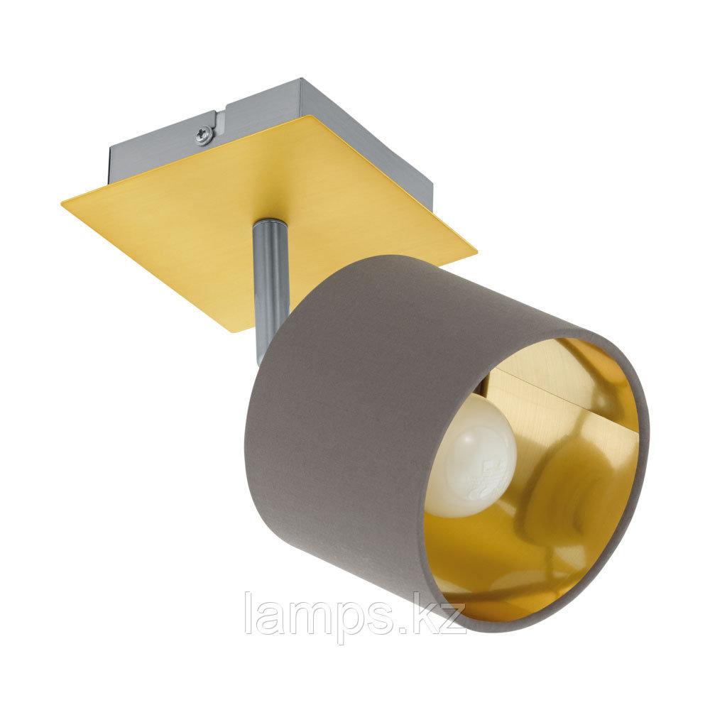 Светильник настенно-потолочный VALBIANO, сталь, материал, WL/1 NICKEL-M/MS/CAPPUCCINO