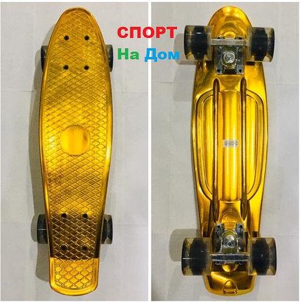 Золотой Хром Пенни Борд (Penny Board), фото 2
