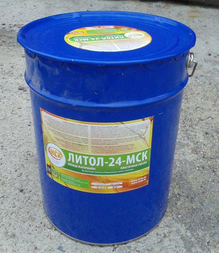 Литол-24-МСК литиевая многоцелевая высотемпературная смазка 20 кг.