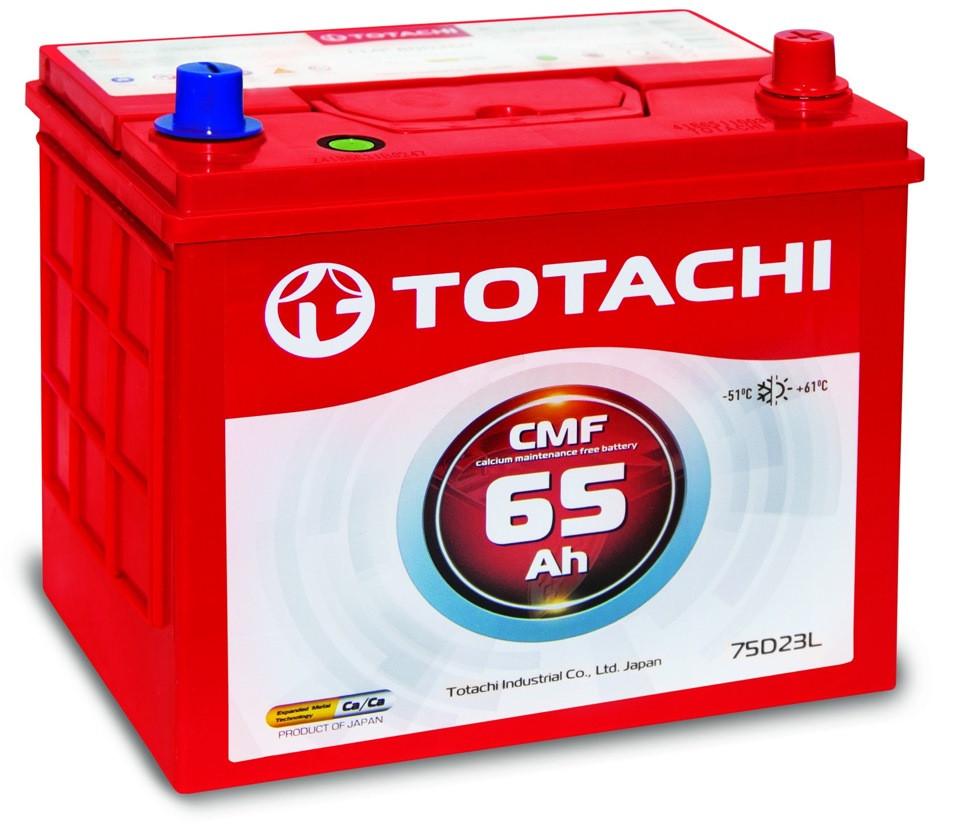 Аккумулятор TOTACHI CMF (65A/h 550-600A 12V) 75D23L производство Корея