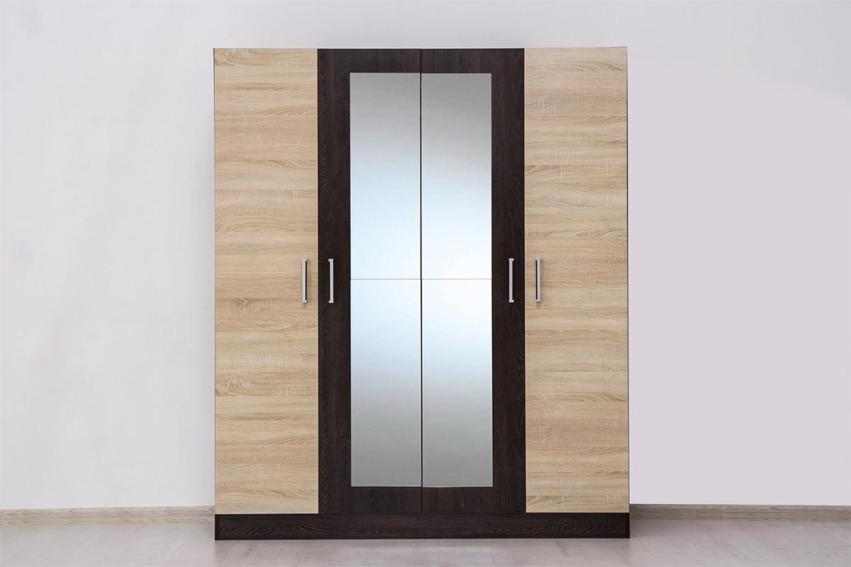Шкаф для одежды 4Д Уют 1, Дуб Сонома, Горизонт (Россия)