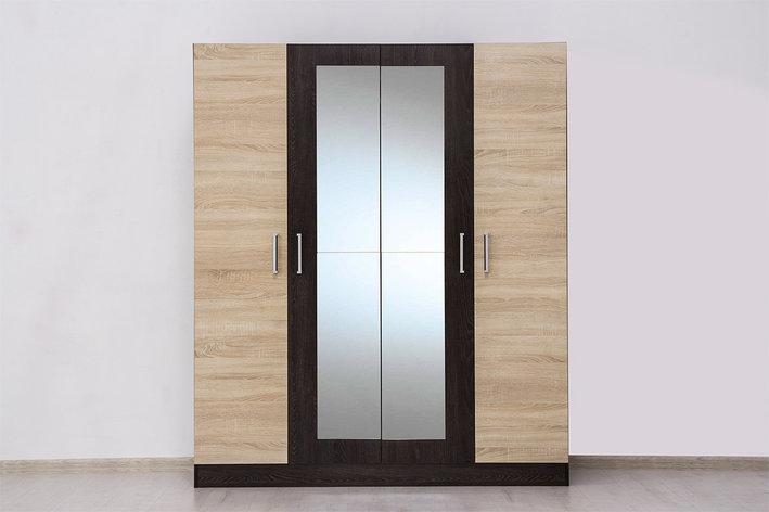 Шкаф для одежды 4Д Уют 1, Дуб Сонома, Горизонт (Россия), фото 2