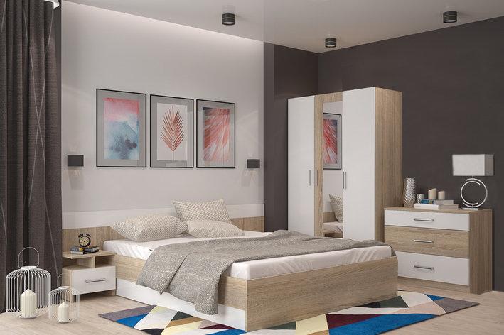 Комплект мебели для спальни Уют 1, Белый Белый, Горизонт(Россия), фото 2