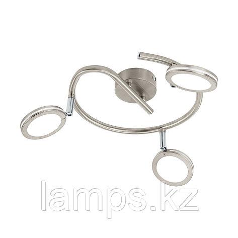 Светильник настенно-потолочный Eglo KARYSTOS, сталь, пластик  LED-G-FORM/3 NICKEL-M/WEISS, фото 2