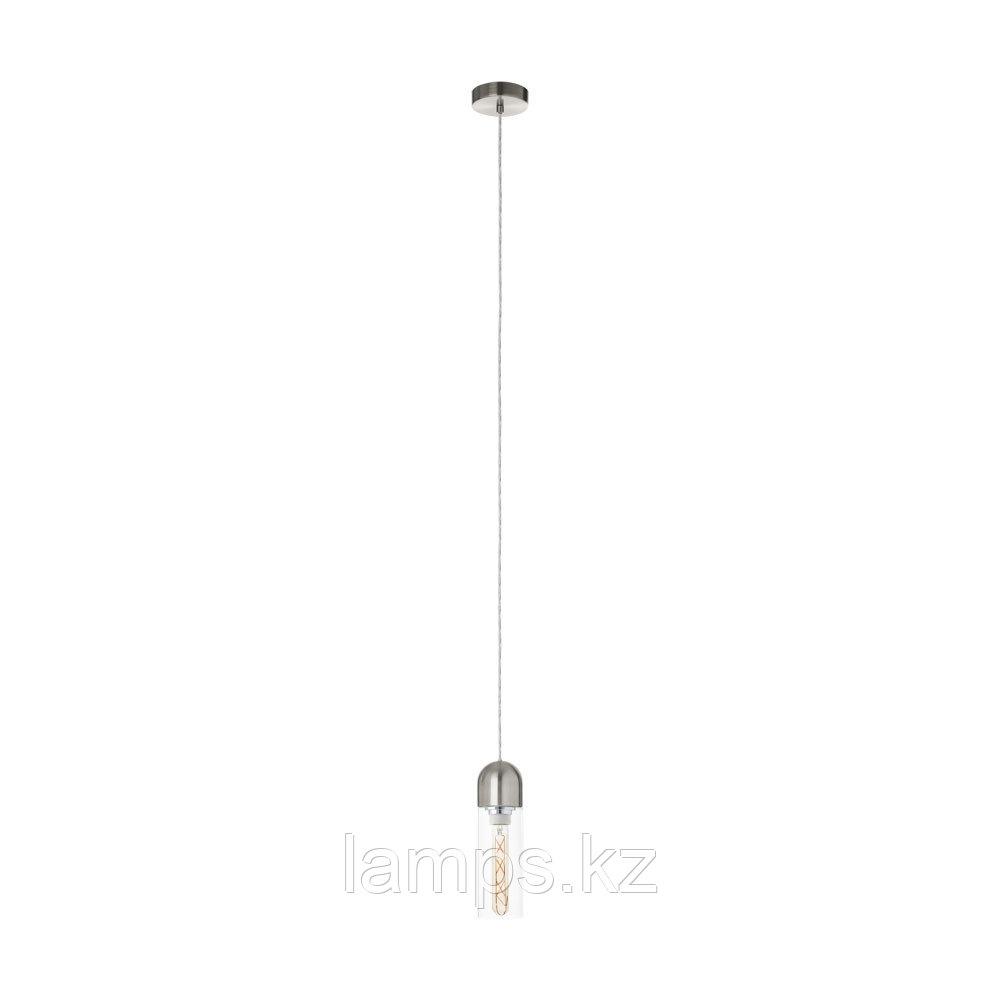 Светильник подвесной Eglo ZACHARO,HL  1 NICKEL-MATT  KLAR,сталь, стекло
