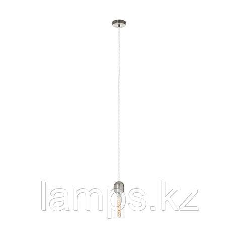 Светильник подвесной Eglo ZACHARO,HL  1 NICKEL-MATT  KLAR,сталь, стекло, фото 2