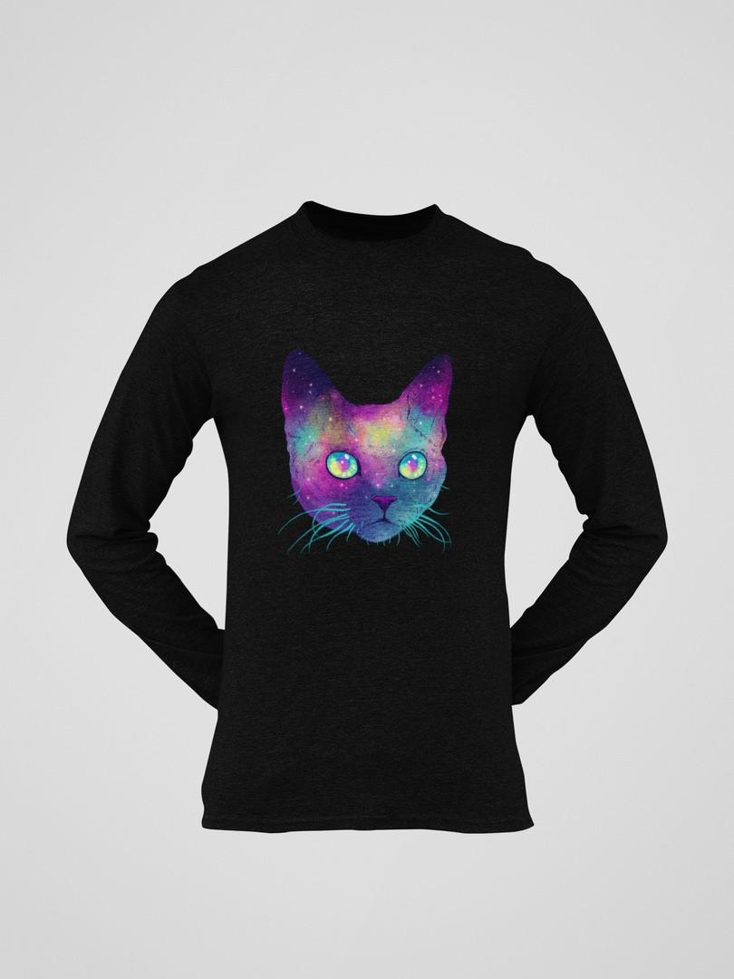 Лонгслив черный - Космо кот