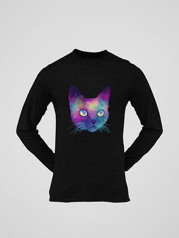 Лонгслив черный - Космо кот, фото 2