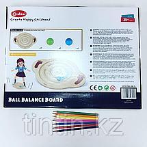 Деревянная доска-балансир для детей от 3 до 6 лет, фото 3