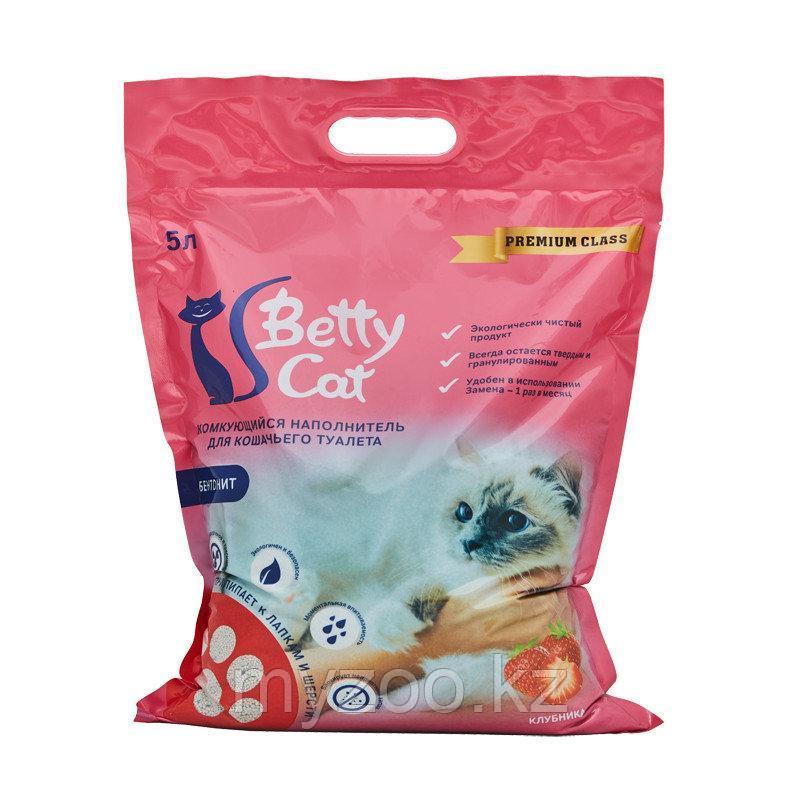 Наполнитель Betty cat (Бетти кэт) бентонит комкующийся, 5л (4кг) клубника