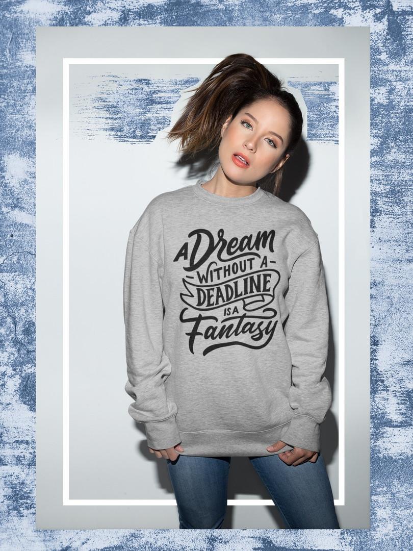 Свитшот серый - Dream/Fantasy