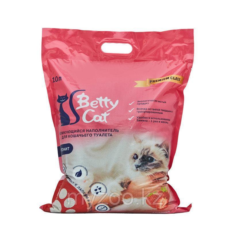Наполнитель Betty cat (Бетти кэт) бентонит комкующийся, 10л (8кг) клубника