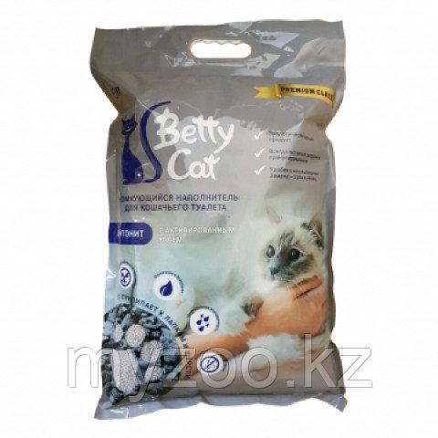 Наполнитель Betty cat (Бетти кэт) бентонит комкующийся, 10л (8кг) уголь