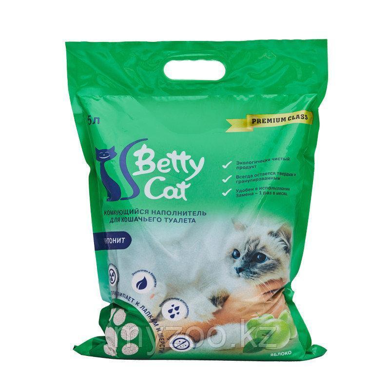 Наполнитель Betty cat (Бетти кэт) бентонит комкующийся, 5л (4кг) яблоко