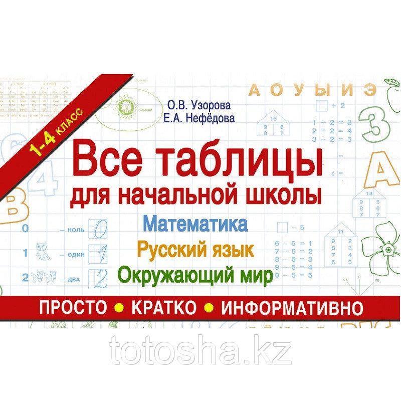 «Все таблицы для начальной школы. Русский язык. Математика. Окружающий мир» Узорова О.В.