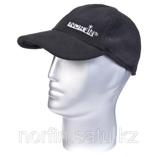 Шапка-бейсболка Norfin FLEECE BLACK р.XL