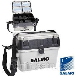 Ящик рыболовный зимний Salmo 2-х ярус.(из 2-х частей) пласт. 38x24.5x29см сер.