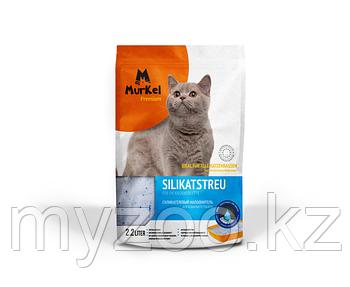 """""""Murkel"""" (Муркель) наполнитель для кошачьего туалета (силикагель крупный) нейтральный, 1 кг"""