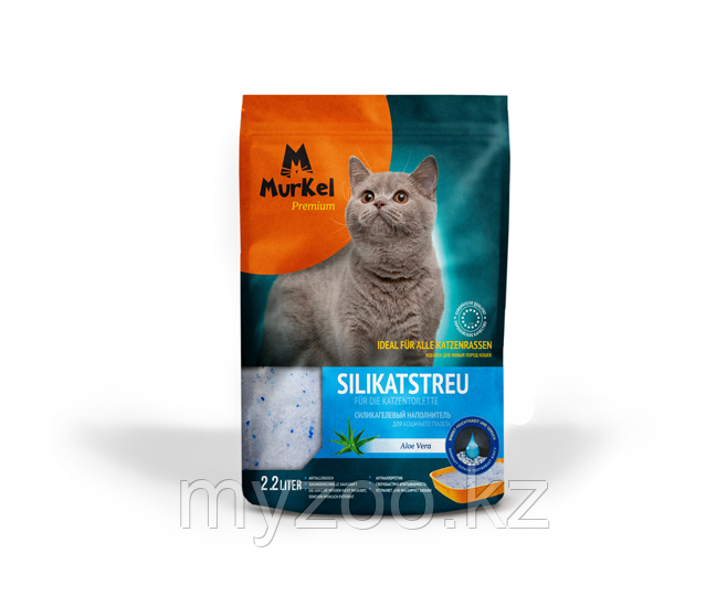 """""""Murkel"""" (Муркель) наполнитель для кошачьего туалета с ароматом Алоэ, 1кг(силикагель)"""