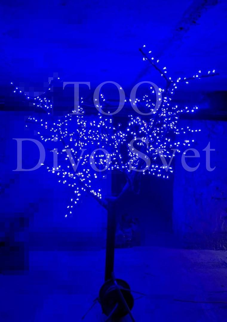 """Светодиодное дерево """"Сакура"""" 2.3м высота, синего цвета. Декоративное уличное led дерево."""