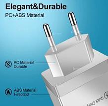 Адаптер быстрой зарядки 4хUSB + QC 3.0 для электрической розетки AR830 (Белый), фото 3