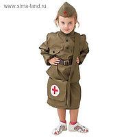 """Костюм военного """"Санитарка"""" для девочки, 3-5 лет рост 104-116 см"""