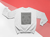 Свитшот серый - illusion panda